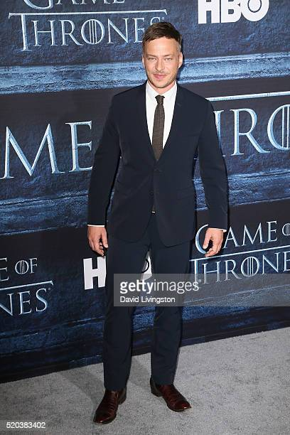 Actor Tom Wlaschiha arrives at the premiere of HBO's 'Game of Thrones' Season 6 at the TCL Chinese Theatre on April 10 2016 in Hollywood California