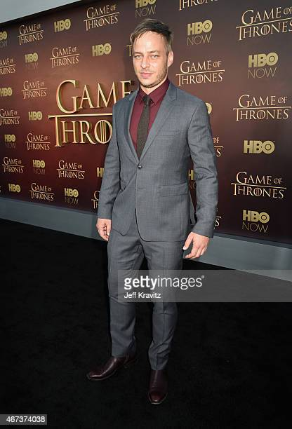 Actor Tom Wlaschiha attends HBO's 'Game of Thrones' Season 5 Premiere and After Party at the San Francisco Opera House on March 23 2015 in San...