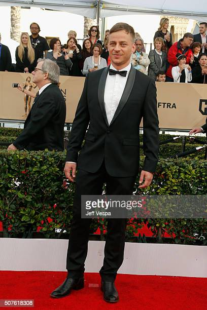 Actor Tom Wlaschiha attends the 22nd Annual Screen Actors Guild Awards at The Shrine Auditorium on January 30 2016 in Los Angeles California