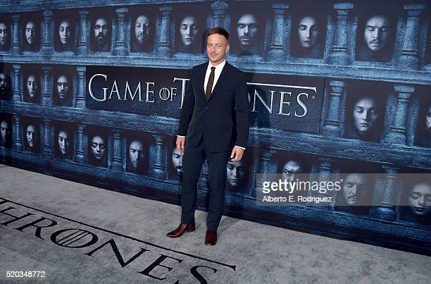 Actor Tom Wlaschiha attends the premiere of HBO's 'Game Of Thrones' Season 6 at TCL Chinese Theatre on April 10 2016 in Hollywood California
