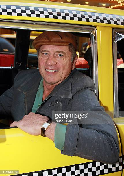 Actor Tom Wopat poses as he arrives in a Vintage Taxi for The Opening Night of The New Musical 'A Catered Affair' on Broadway at The Walter Kerr...