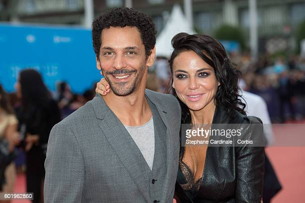 Actor Tomer Sisley and Sandra Zeitoun attend the Closing Ceremony of the 42nd Deauville American Film Festival on September 10 2016 in Deauville...