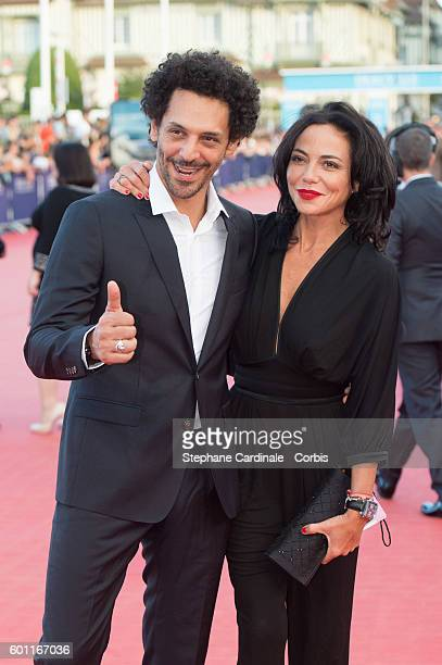 Actor Tomer Sisley and Sandra Zeitoun attend the 'Imperium' Premiere on September 9 2016 in Deauville France