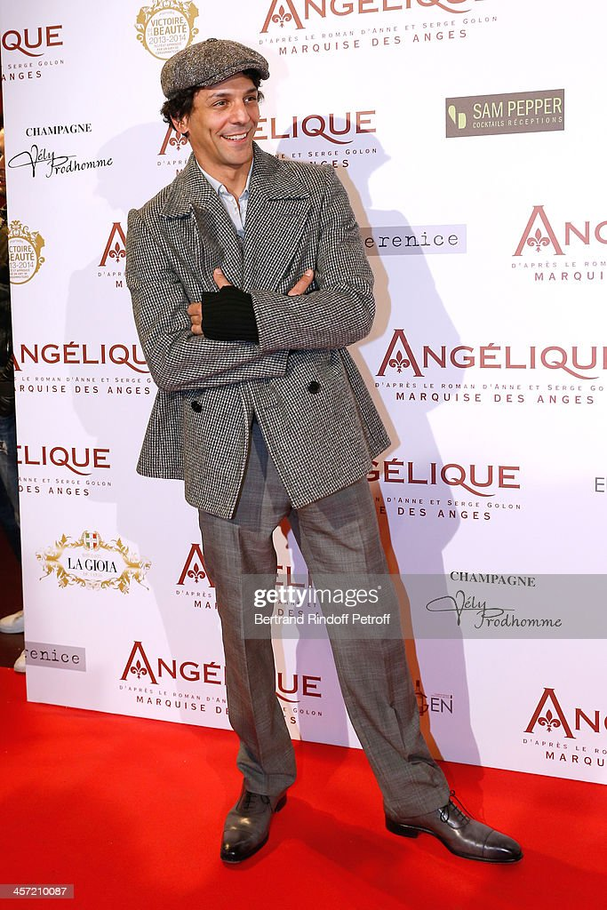 Actor <a gi-track='captionPersonalityLinkClicked' href=/galleries/search?phrase=Tomer+Sisley&family=editorial&specificpeople=2130669 ng-click='$event.stopPropagation()'>Tomer Sisley</a> attends the 'Angelique' Paris movie premiere at Cinema Gaumont Capucine on December 16, 2013 in Paris, France.