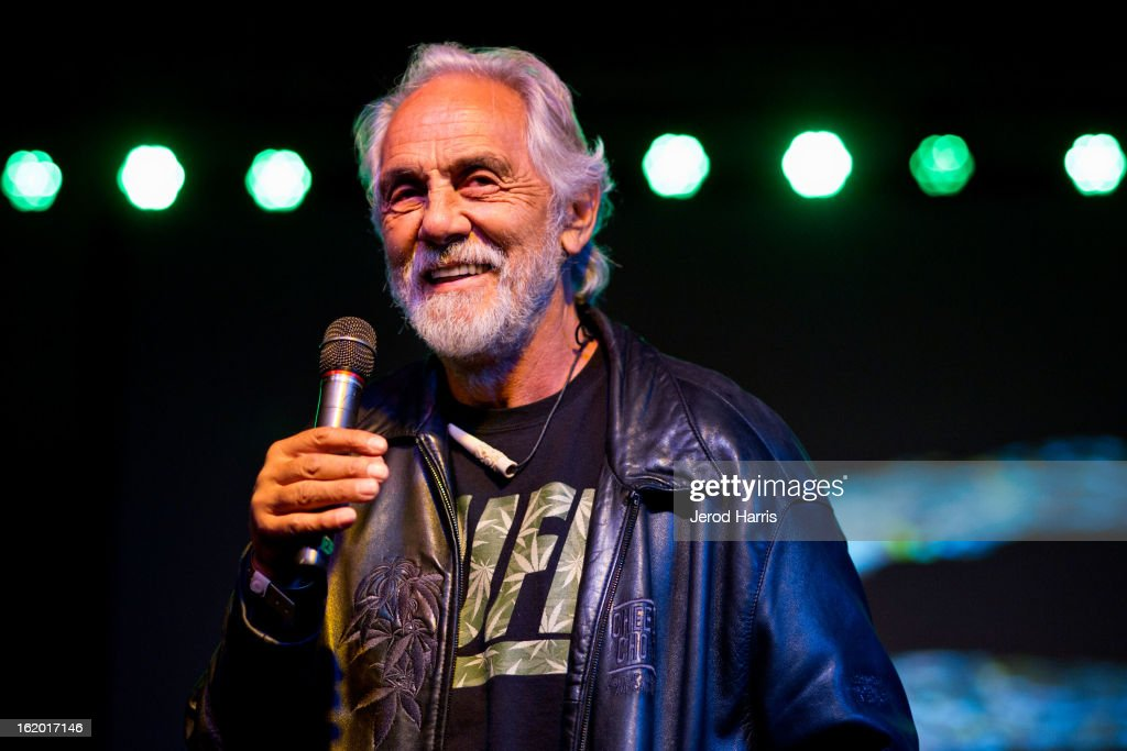 Actor <a gi-track='captionPersonalityLinkClicked' href=/galleries/search?phrase=Tommy+Chong&family=editorial&specificpeople=221475 ng-click='$event.stopPropagation()'>Tommy Chong</a> accepts the 'Lifetime Acheivement' award at the 2nd Annual High Times Los Angeles Medical Cannabis Cup Awards at National Orange Show Events Center on February 17, 2013 in San Bernardino, California.