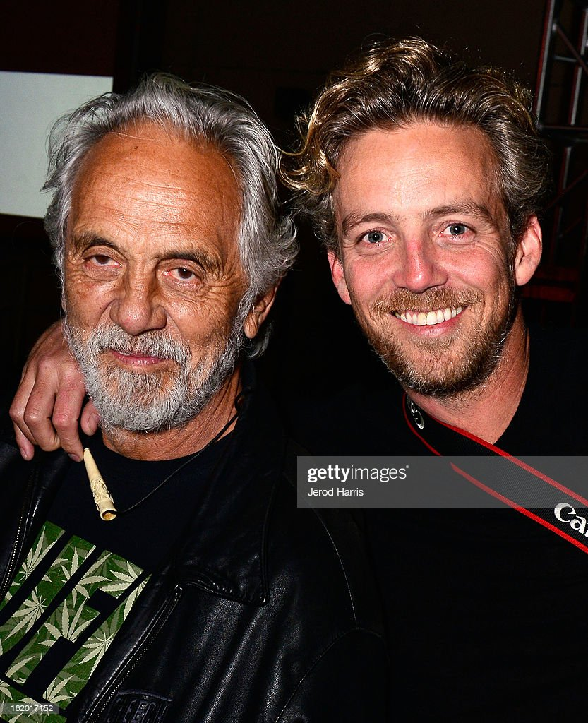 Actor <a gi-track='captionPersonalityLinkClicked' href=/galleries/search?phrase=Tommy+Chong&family=editorial&specificpeople=221475 ng-click='$event.stopPropagation()'>Tommy Chong</a> and son Paris Chong attend the 2nd Annual High Times Los Angeles Medical Cannabis Cup Awards at National Orange Show Events Center on February 17, 2013 in San Bernardino, California.