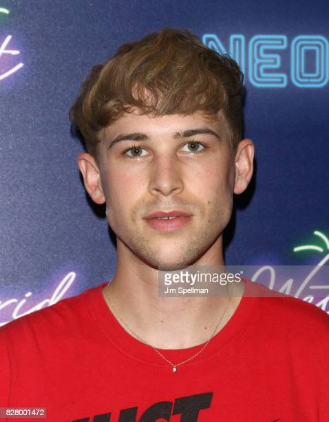 Actor Tommy Dorfman attends The New York premiere of 'Ingrid Goes West' hosted by Neon at Alamo Drafthouse Cinema on August 8 2017 in the Brooklyn...