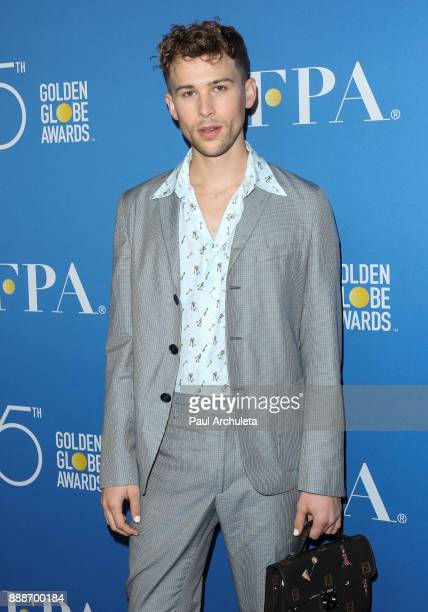 Actor Tommy Dorfman attends theÊGolden Globes 75th Anniversary special screening and HFPA holiday receptionÊat Paramount Studios on December 8 2017...