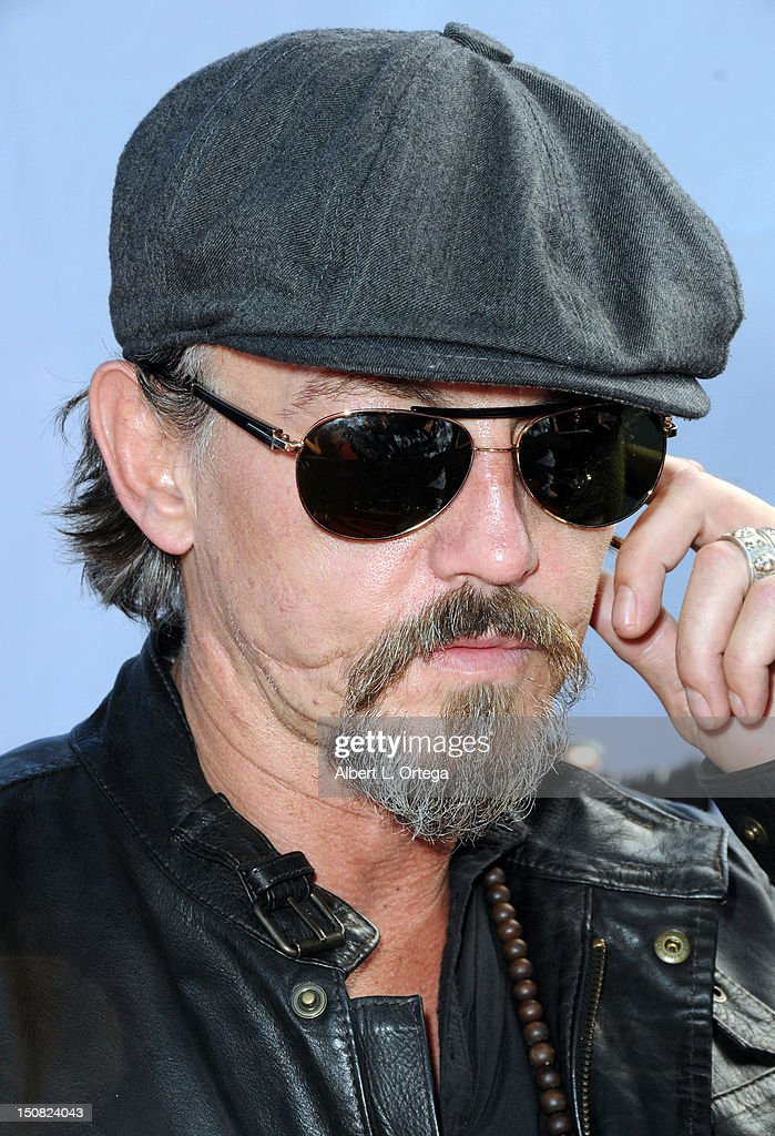 Actor Tommy Flanagan participates in the 2nd Annual Boot Ride And Rally to benefit US Soldiers on August 26 2012 in Hollywood California