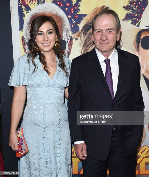 Actor Tommy Lee Jones and daughter Victoria Jones arrive at the premiere of 'Just Getting Started' at ArcLight Hollywood on December 7 2017 in...