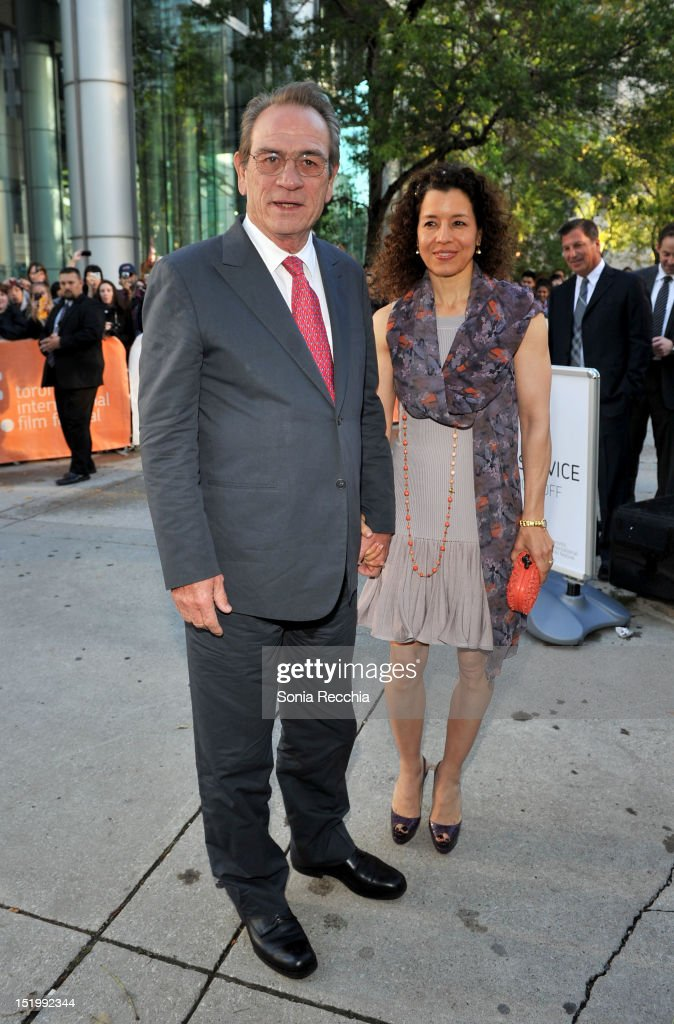 Actor Tommy Lee Jones and Dawn Laurel Jones attend 'Emperor' premiere during the 2012 Toronto International Film Festival at Roy Thomson Hall on...