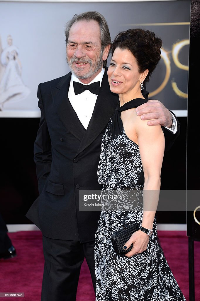 Actor Tommy Lee Jones and Dawn Laurel-Jones arrive at the Oscars at Hollywood & Highland Center on February 24, 2013 in Hollywood, California.