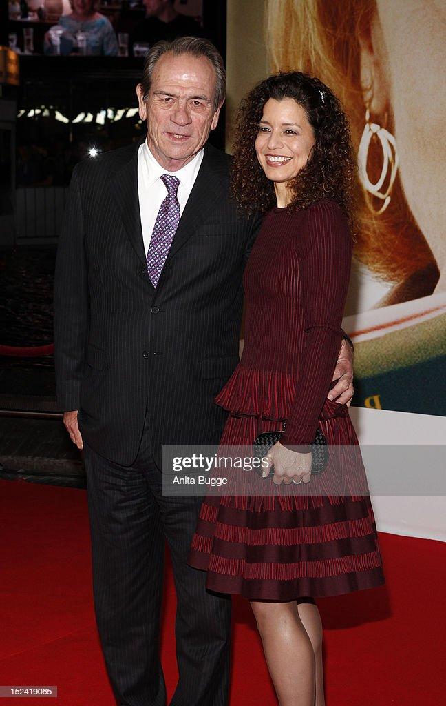 Actor Tommy Lee Jones and his wife Dawn Jones attend the 'Hope Springs' Germany premiere on September 20 2012 in Berlin Germany