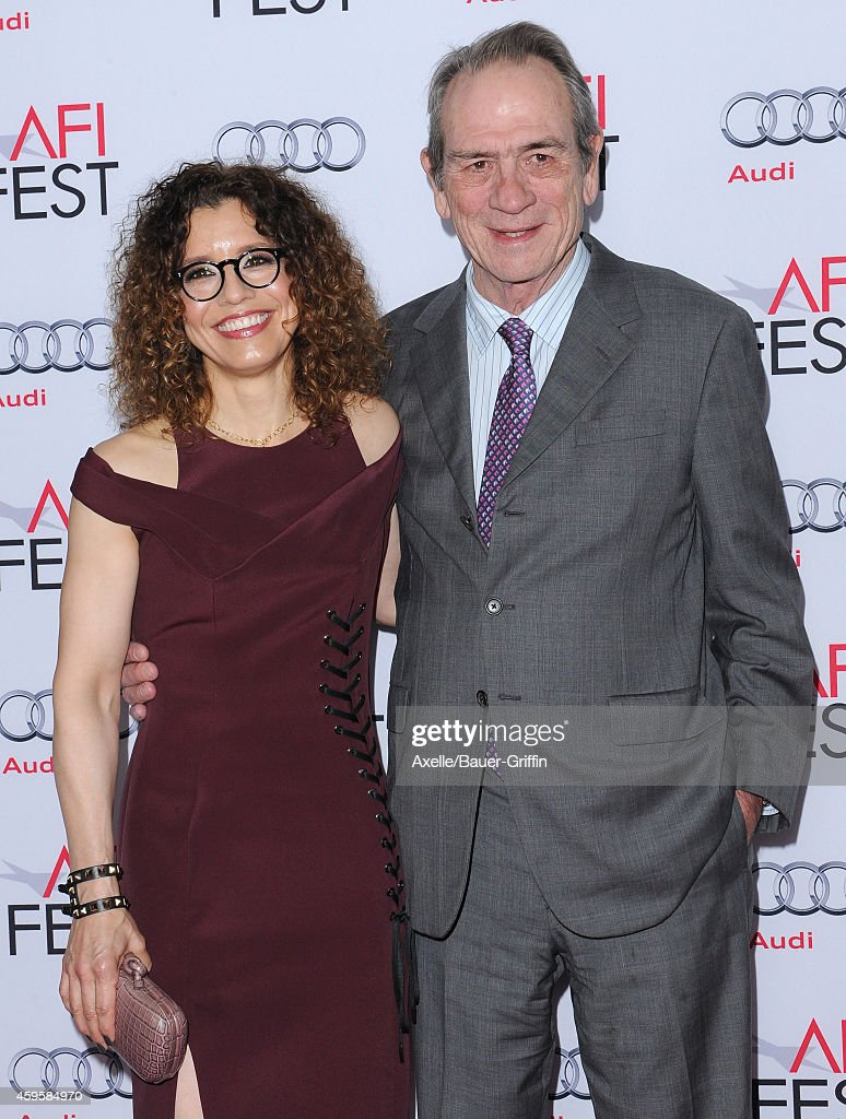 Actor Tommy Lee Jones and wife Dawn Jones arrive at the AFI FEST 2014 Presented By Audi 'The Homesman' Premiere at Dolby Theatre on November 11 2014...