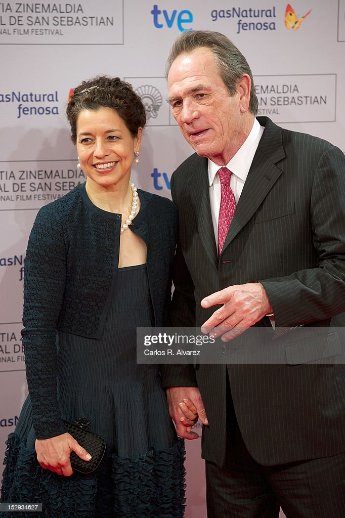 Actor Tommy Lee Jones and wife Dawn Jones attend the 'Donosti' award ceremony at the Kursaal Palace during the 60th San Sebastian International Film...