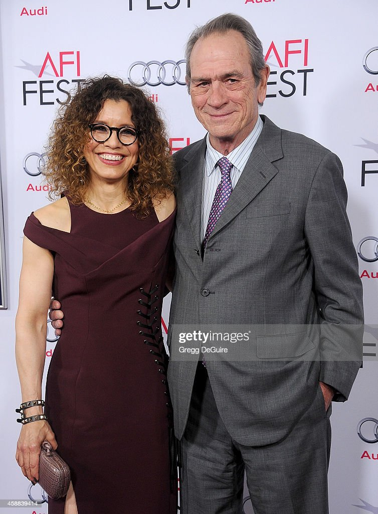 Actor Tommy Lee Jones and wife Dawn Laurel Jones arrive at the AFI FEST 2014 Presented By Audi 'The Homesman' Premiere at Dolby Theatre on November...