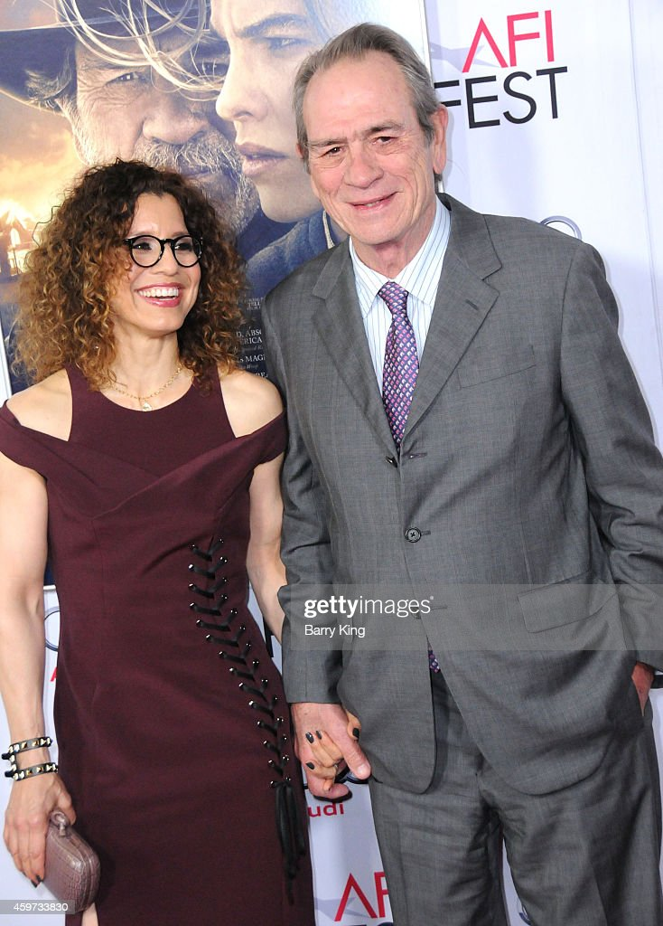 Actor Tommy Lee Jones and wife Dawn Laurel Jones arrive at The Homesman' premiere during AFI FEST 2014 Presented By Audi held at Dolby Theatre on...