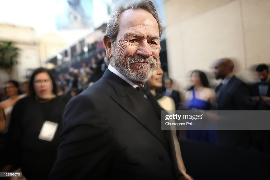 Actor <a gi-track='captionPersonalityLinkClicked' href=/galleries/search?phrase=Tommy+Lee+Jones&family=editorial&specificpeople=204174 ng-click='$event.stopPropagation()'>Tommy Lee Jones</a> arrives at Hollywood & Highland Center on February 24, 2013 in Hollywood, California.