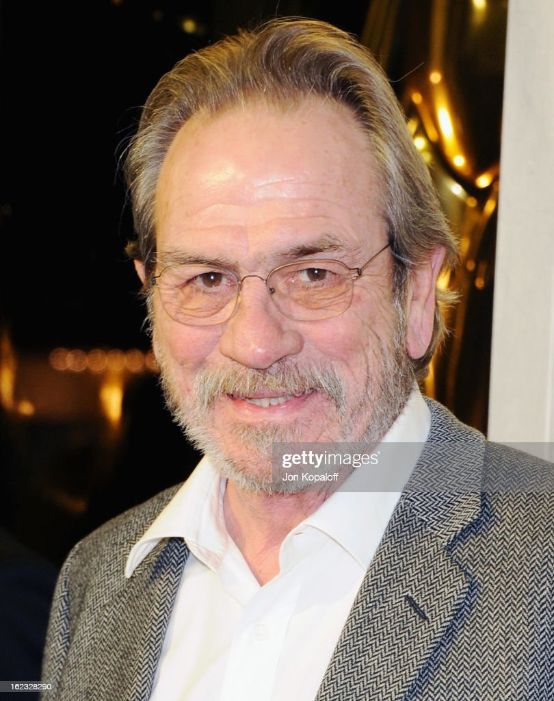 Actor <a gi-track='captionPersonalityLinkClicked' href=/galleries/search?phrase=Tommy+Lee+Jones&family=editorial&specificpeople=204174 ng-click='$event.stopPropagation()'>Tommy Lee Jones</a> arrives at Tom Ford Cocktails In Support Of Project Angel Food Media at TOM FORD on February 21, 2013 in Beverly Hills, California.