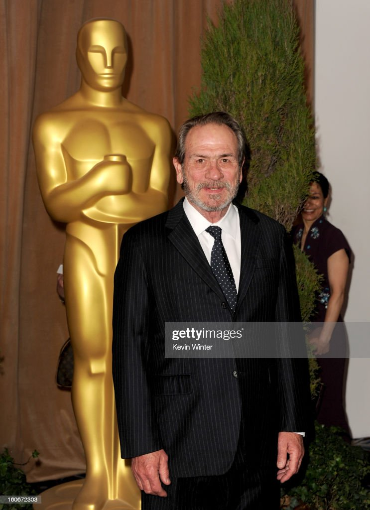 Actor <a gi-track='captionPersonalityLinkClicked' href=/galleries/search?phrase=Tommy+Lee+Jones&family=editorial&specificpeople=204174 ng-click='$event.stopPropagation()'>Tommy Lee Jones</a> attends the 85th Academy Awards Nominations Luncheon at The Beverly Hilton Hotel on February 4, 2013 in Beverly Hills, California.