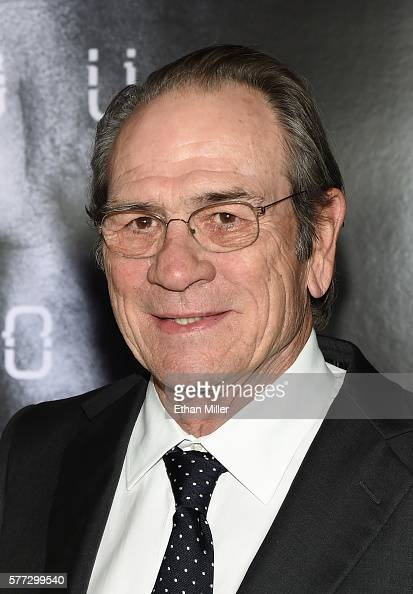 Actor Tommy Lee Jones attends the premiere of Universal Pictures' 'Jason Bourne' at The Colosseum at Caesars Palace on July 18 2016 in Las Vegas...