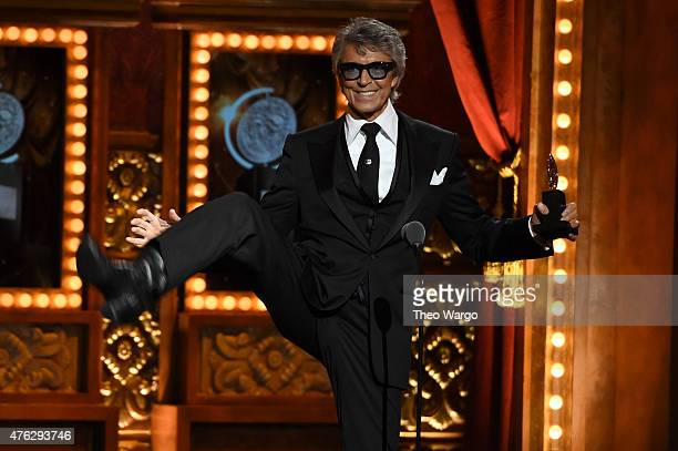 Actor Tommy Tune accepts a Special Tony Award for Lifetime Achievement in the Theatre onstage at the 2015 Tony Awards at Radio City Music Hall on...