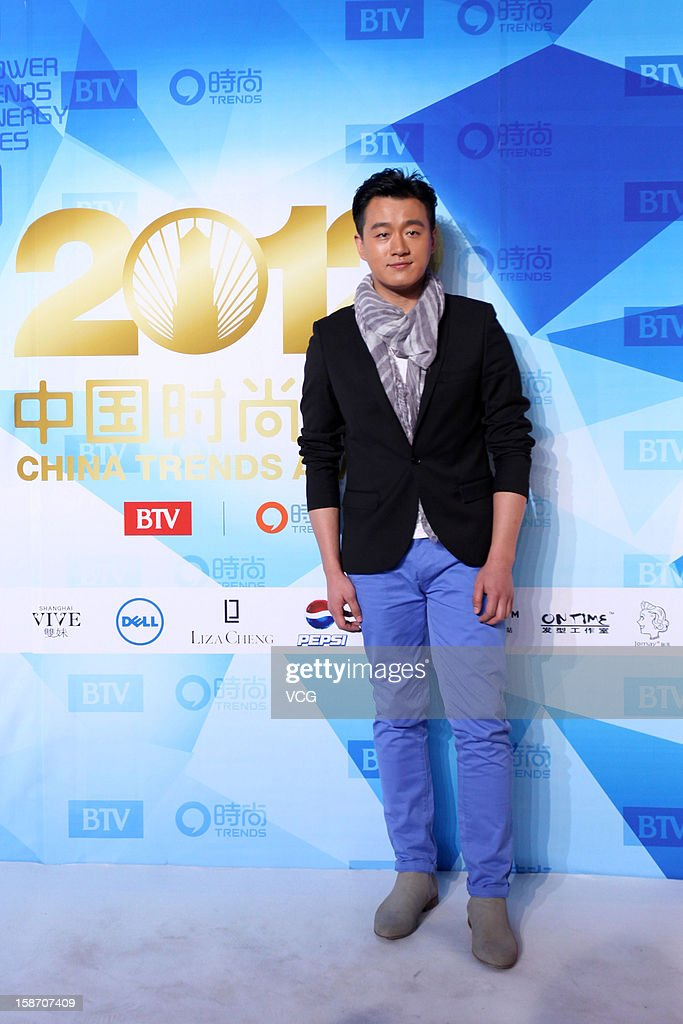 Actor Tong Dawei arrives at the red carpet of the 2012 China Trends Awards at BTV Grand Theater on December 22, 2012 in Beijing, China.