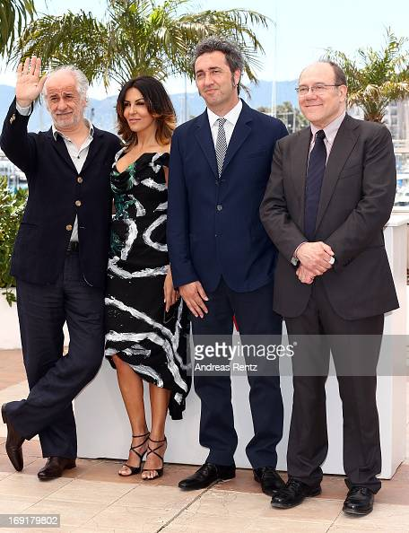 Actor Toni Servillo actress Sabrina Ferilli director Paolo Sorrentino and actor Carlo Verdone attend the 'La Grande Bellezza' Photocall during The...