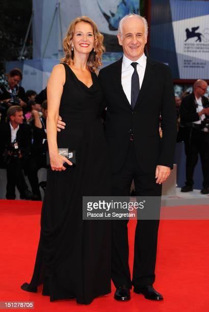 Actor Toni Servillo and his wife Manuela Lamanna attend the 'Bella Addormentata' Premiere during The 69th Venice Film Festival at the Palazzo del...
