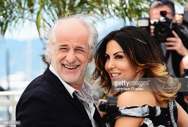 Actor Toni Servillo and Sabrina Ferilli attend the photocall for 'La Grande Bellezza' during the 66th Annual Cannes Film Festival at Palais des...