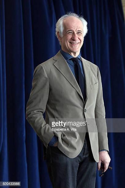 Actor Toni Servillo attends a photocall for 'Le Confessioni' at Hotel Bernini Bristol on April 11 2016 in Rome Italy