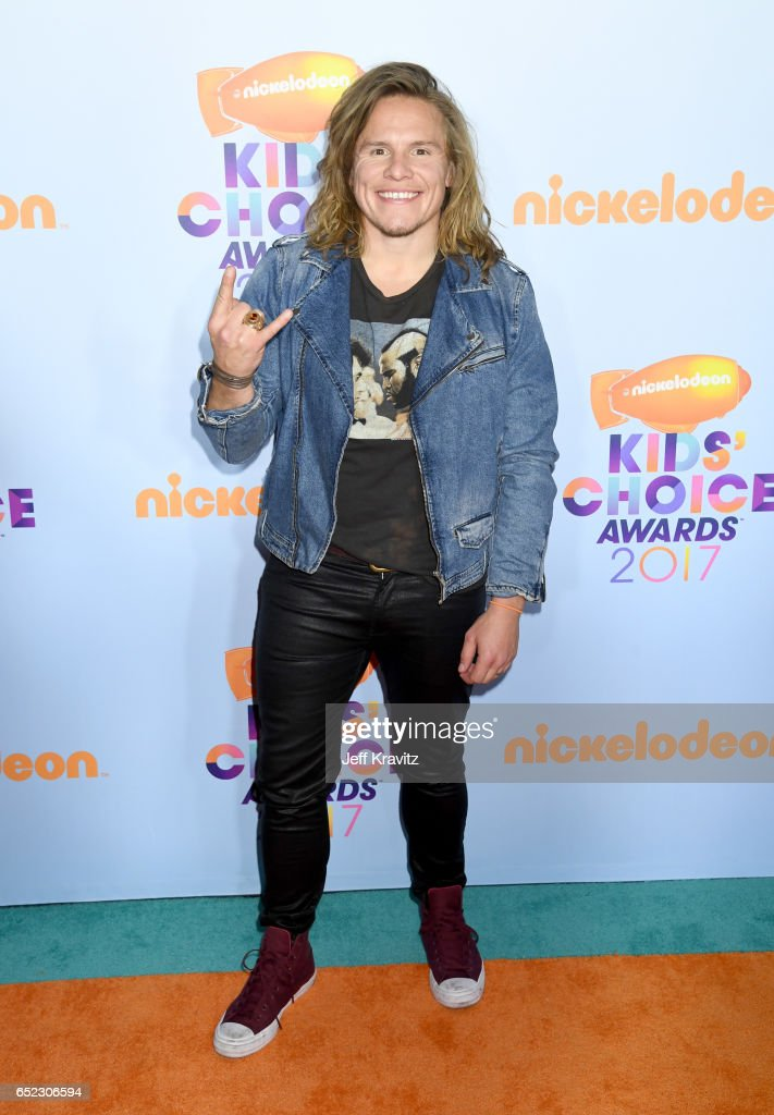 Actor Tony Cavalero at Nickelodeon's 2017 Kids' Choice Awards at USC Galen Center on March 11, 2017 in Los Angeles, California.