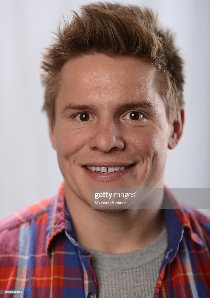 Actor Tony Cavalero poses for a portrait at the photo booth for MSN Wonderwall at ChefDance on January 20, 2013 in Park City, Utah.