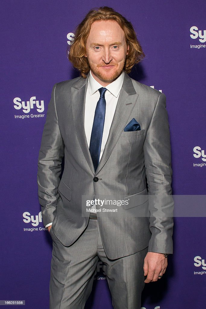 Actor <a gi-track='captionPersonalityLinkClicked' href=/galleries/search?phrase=Tony+Curran&family=editorial&specificpeople=626484 ng-click='$event.stopPropagation()'>Tony Curran</a> attends the 2013 Syfy Upfront at Silver Screen Studios at Chelsea Piers on April 10, 2013 in New York City.