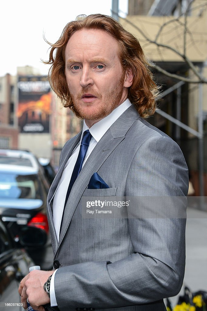Actor Tony Curran leaves his Soho hotel on April 10, 2013 in New York City.