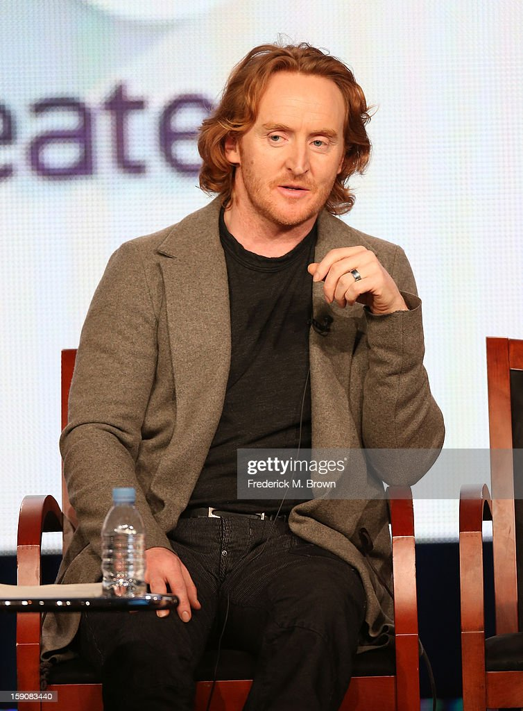 Actor Tony Curran speaks onstage at the 'Defiance' panel discussion during the Syfy portion of the 2013 Winter TCA Tour- Day 4 at the Langham Hotel on January 7, 2013 in Pasadena, California.