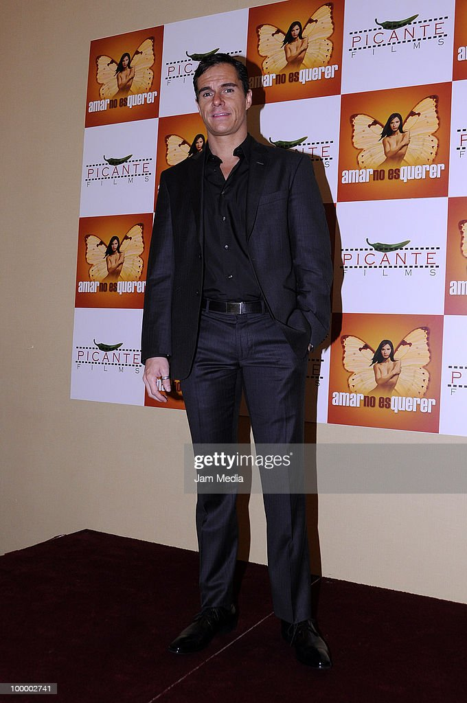 Actor Tony Dalton poses for a photograph during a press conference to present the movie 'Amar no es Querer' at Marriot Hotel on May 19, 2010 in Mexico City, Mexico.