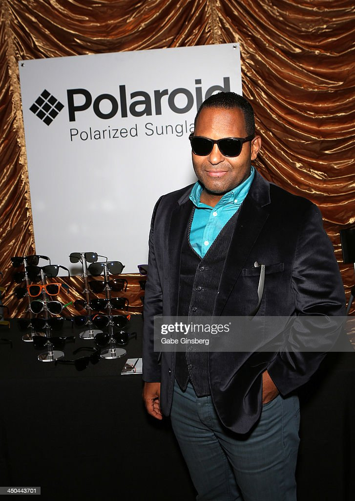 Actor Tony Dandrades with Polaroid Polarized Sunglasses at a gift lounge during the 14th annual Latin GRAMMY Awards at the Mandalay Bay Events Center on November 18, 2013 in Las Vegas, Nevada.