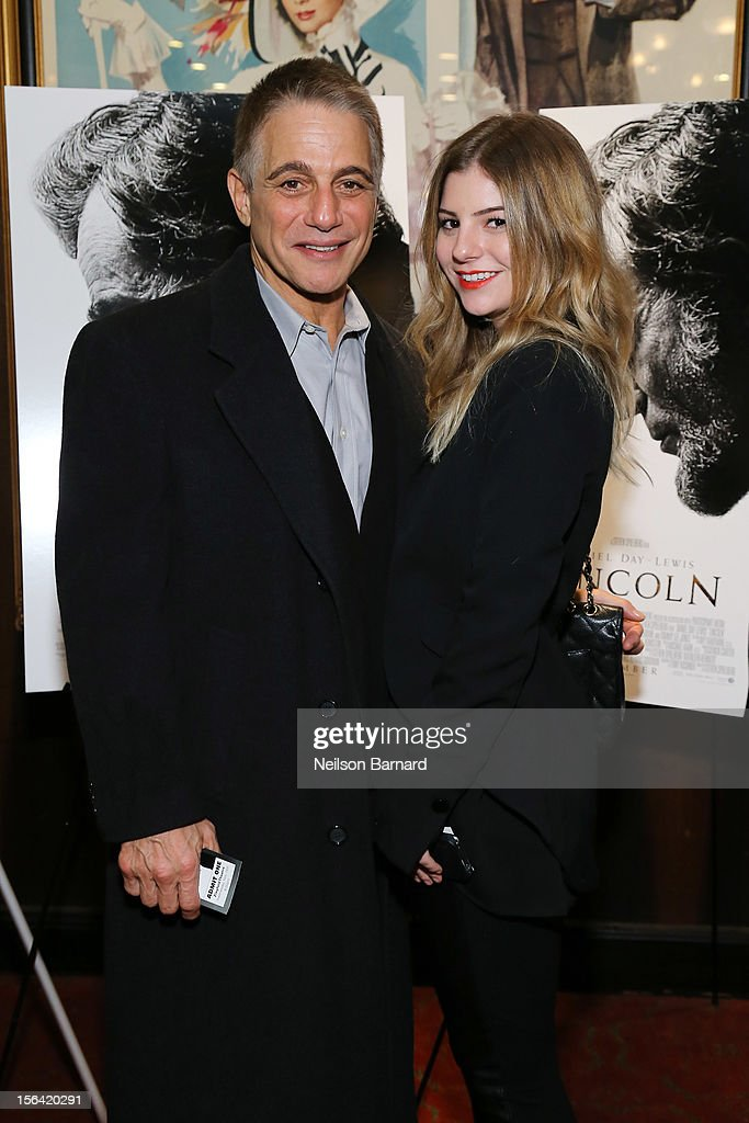 Actor Tony Danza and daughter Emily Danza attends the special screening of Steven Spielberg's 'Lincoln' at the Ziegfeld Theatre on November 14, 2012 in New York City.