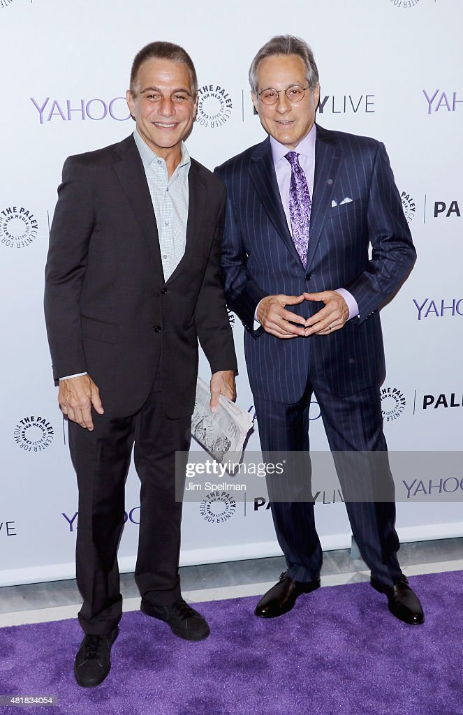Actor Tony Danza and drummer Max Weinberg attend The Paley Center for Media presents: Paley Centennial Salute to Frank Sinatra on July 24, 2015 in New York City.