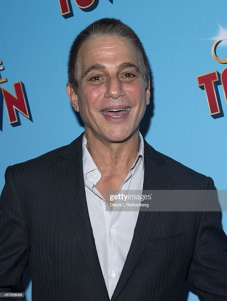 Actor Tony Danza arrives at the Lyric Theatre for the opening night of 'On The Town' on October 16 2014 in New York City
