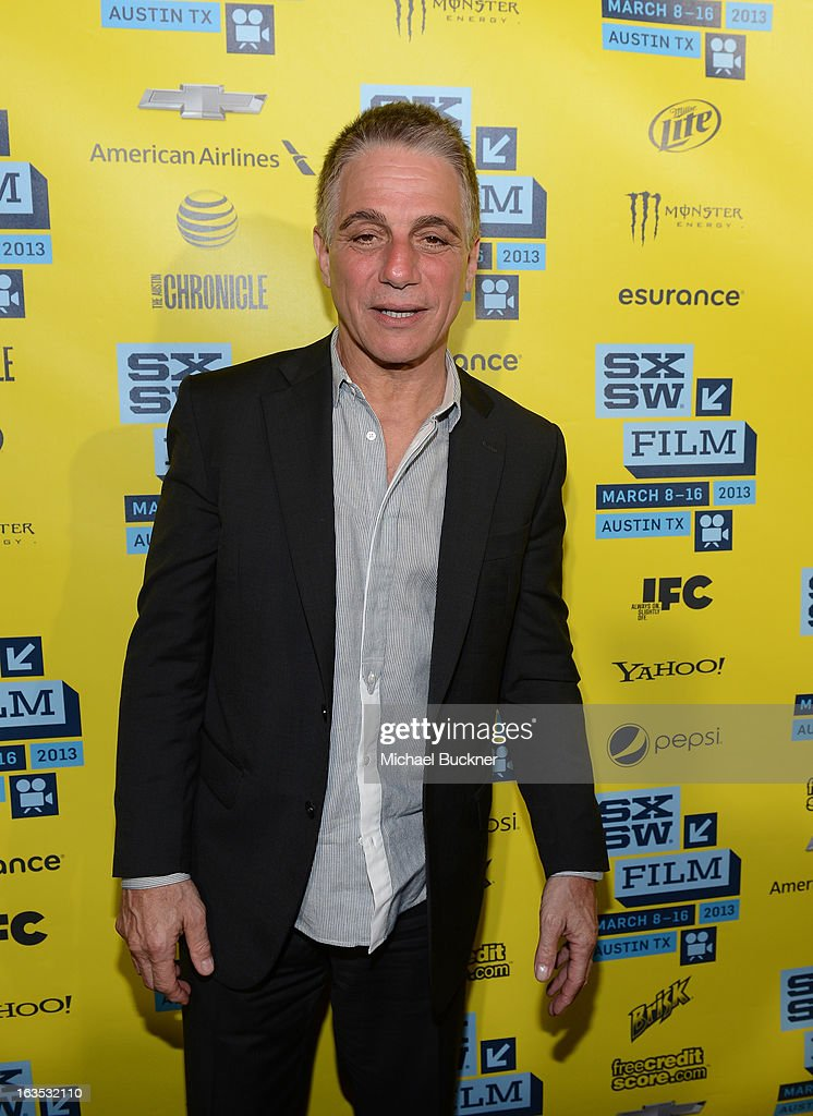 Actor <a gi-track='captionPersonalityLinkClicked' href=/galleries/search?phrase=Tony+Danza&family=editorial&specificpeople=203133 ng-click='$event.stopPropagation()'>Tony Danza</a> arrives to the screening of 'Don Jon's Addiction' during the 2013 SXSW Music, Film + Interactive Festival at the Paramount Theatre on March 11, 2013 in Austin, Texas.