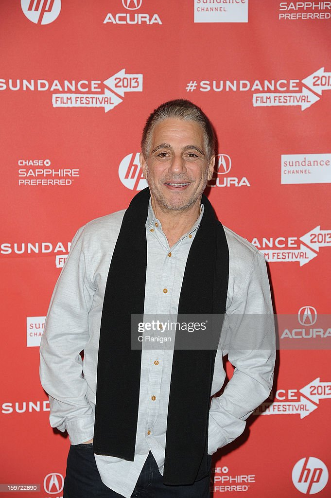 Actor <a gi-track='captionPersonalityLinkClicked' href=/galleries/search?phrase=Tony+Danza&family=editorial&specificpeople=203133 ng-click='$event.stopPropagation()'>Tony Danza</a> attends 'Don Jon's Addiction' Premiere during the 2013 Sundance Film Festival at Eccles Center Theatre on January 18, 2013 in Park City, Utah.
