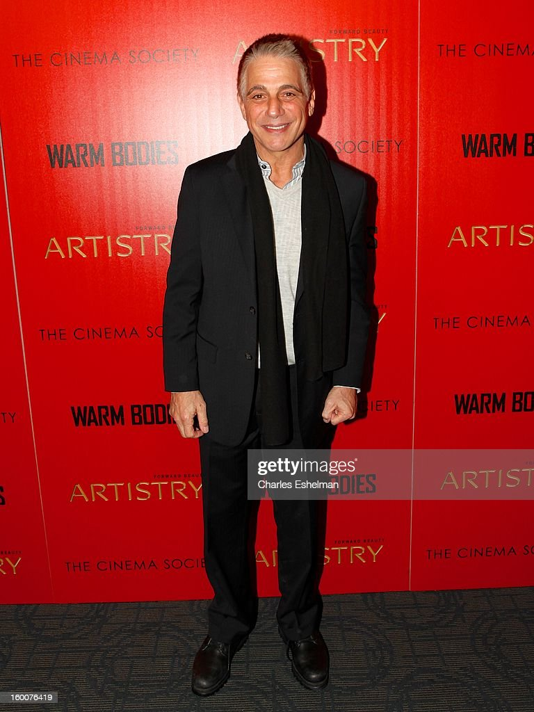 Actor <a gi-track='captionPersonalityLinkClicked' href=/galleries/search?phrase=Tony+Danza&family=editorial&specificpeople=203133 ng-click='$event.stopPropagation()'>Tony Danza</a> attends the Cinema Society and Artistry screening of 'Warm Bodies' at Landmark Sunshine Cinema on January 25, 2013 in New York City.
