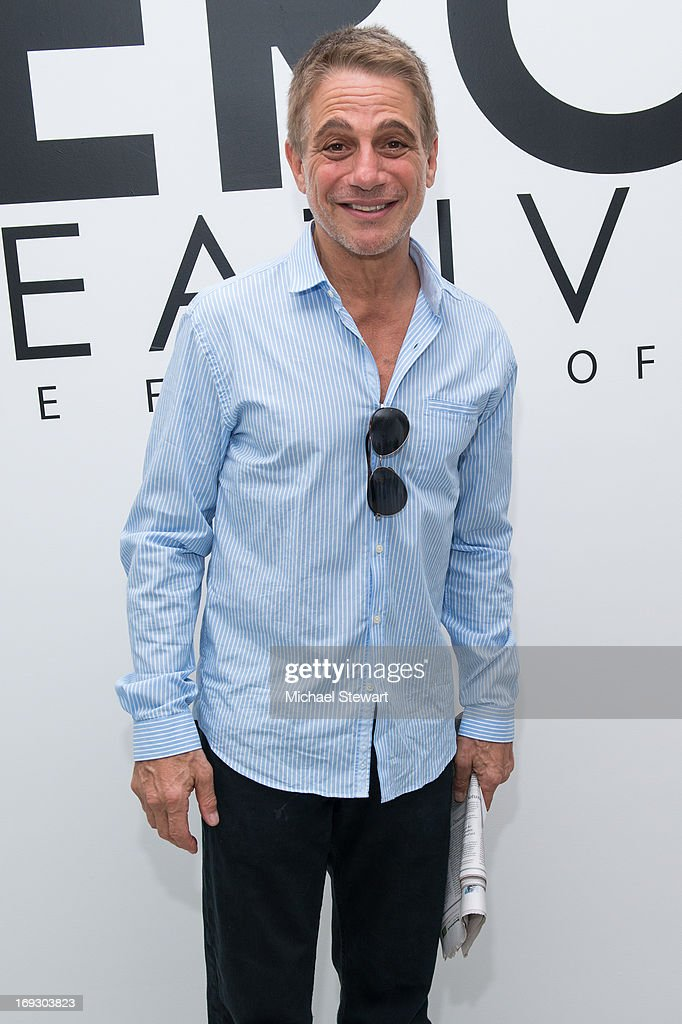 Actor <a gi-track='captionPersonalityLinkClicked' href=/galleries/search?phrase=Tony+Danza&family=editorial&specificpeople=203133 ng-click='$event.stopPropagation()'>Tony Danza</a> attends the Fierce Creativity Art Exhibition Reception at The Flag Art Foundation on May 22, 2013 in New York City.