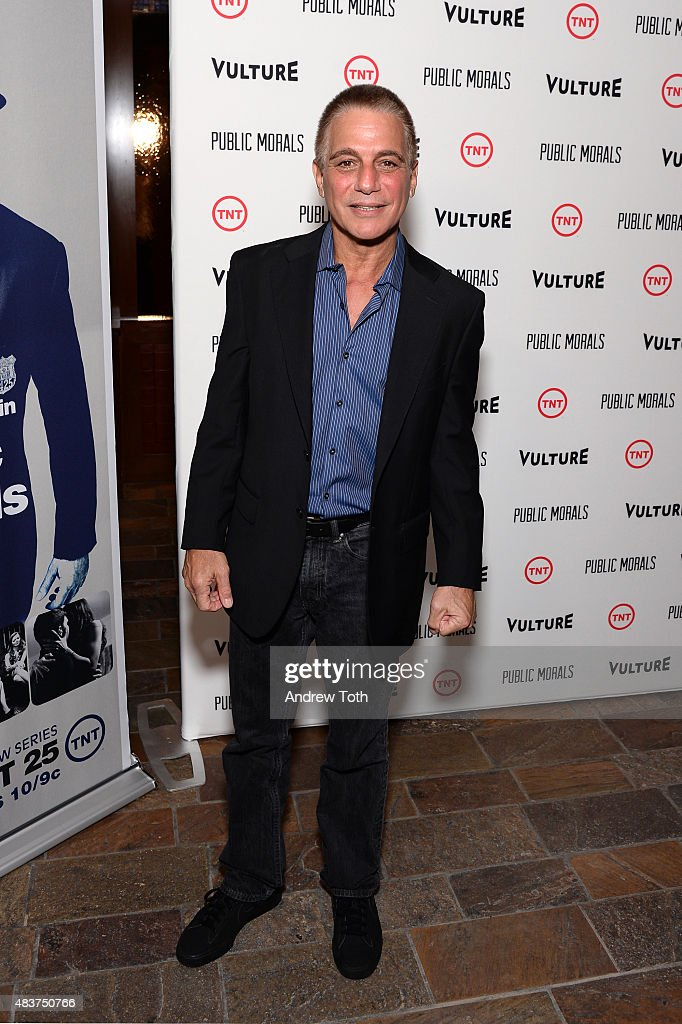 Actor Tony Danza attends the 'Public Morals' New York series screening at Tribeca Grand Screening Room on August 12, 2015 in New York City.