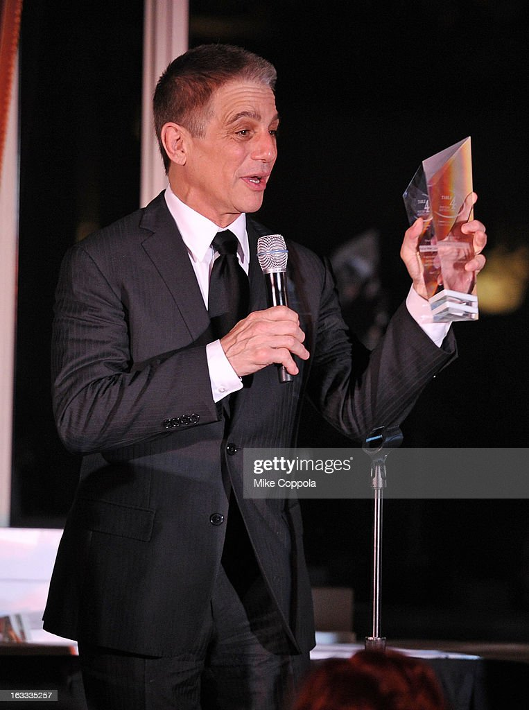 Actor Tony Danza speaks at the Table 4 Writers Foundation 1st Annual Awards Gala on March 7, 2013 in New York City.