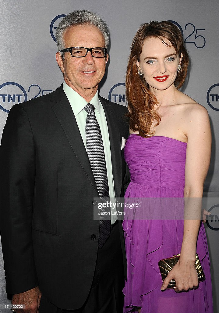 Actor Tony Denison and guest attend TNT's 25th anniversary party at The Beverly Hilton Hotel on July 24, 2013 in Beverly Hills, California.