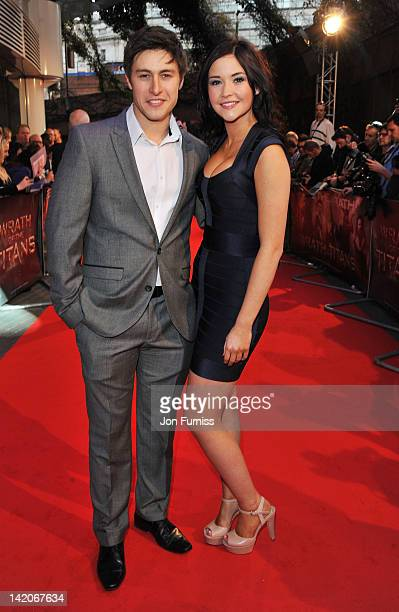 Actor Tony Discipline and actress Jacqueline Jossa attend the 'Wrath Of The Titans' European premiere at BFI IMAX on March 29 2012 in London England