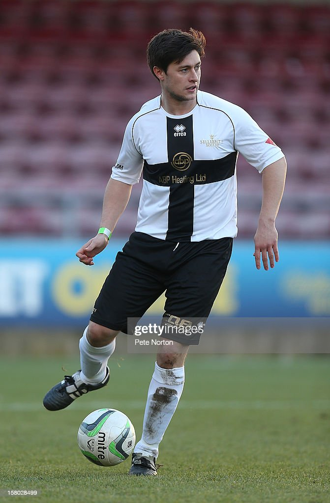 Actor Tony Discipline in action during the William Hill Foundation Cup Celebrity Charity Challenge Match at Sixfields on December 9, 2012 in Northampton, England.